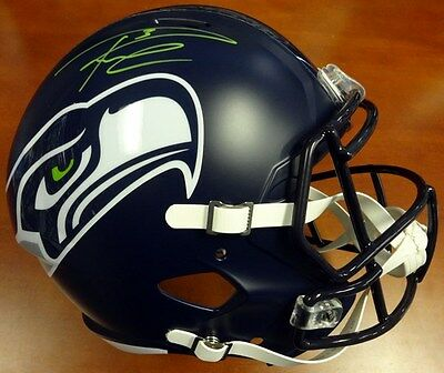 Russell Wilson Autographed Signed Seahawks Full Size Speed Rep Helmet Gn Rw Holo