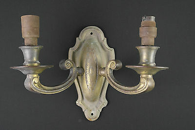 01 - VINTAGE NICE SET OF ELECTRIC Ornate SOLID Brass WALL Sconces LIGHT FITTINGS