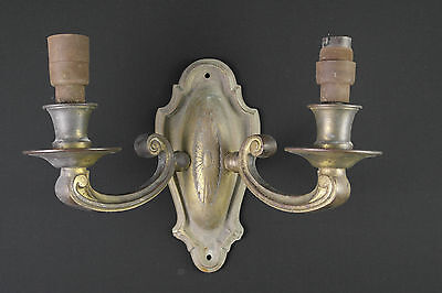 03 - VINTAGE NICE SET OF ELECTRIC Ornate SOLID Brass WALL Sconces LIGHT FITTINGS