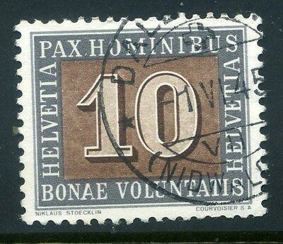 SWITZERLAND;   1945 early PAX issue fine used 10c. value