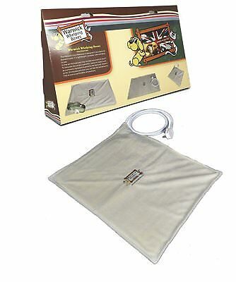Pet Dog Cat Puppy Heated Electric Vinyl Heat Pad Bed Small Use in Whelping Box