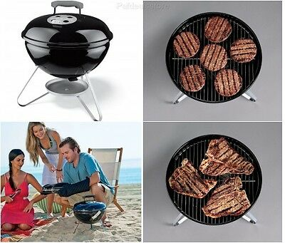 """Smokey Joe Grill Charcoal Cooking Portable Camp 14"""" Black Sturdy Outdoor Weber"""
