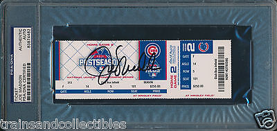 Joe Maddon Signed Cubs Nlcs 10/21/15 Game 4 Ticket Psa/dna Auto #83874462