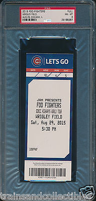 2015 Foo Fighters At Wrigley Field Full Concert Ticket Psa 8 #25198387 Rare