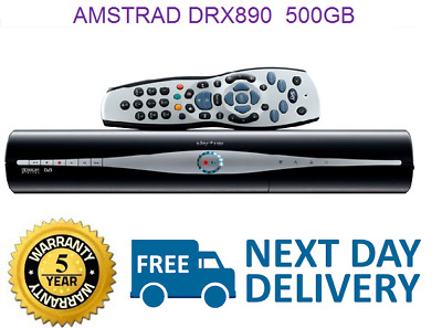 SKY PLUS HD BOX 500GB AMSTRAD DRX890W Built in wifi box NEXT DAY DELIVERY