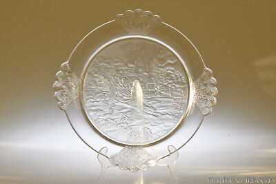 c. 1891 PLUCK No. 1 by Gillinder CRYSTAL Bread Plate