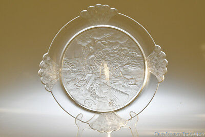 c. 1891 PLUCK No. 2 by Gillinder CRYSTAL Bread Plate