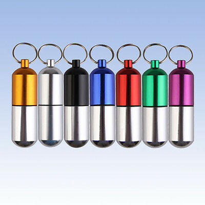Large Size Aluminum Alloy Waterproof Outdoor Small Gallipot Cartridge Keychain