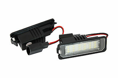 2x License Number Plate Lights for VW Golf EOS Lupo Passat R36 Scirocco 18 LED