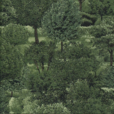 Dark Green Trees Nature Landscape Quilting Fabric FQ or Metre *New*