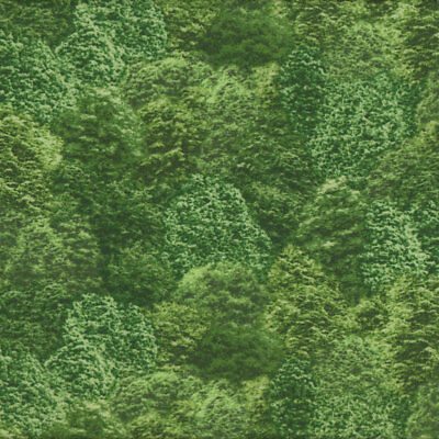 Green Trees Nature Landscape Design Quilt Fabric FQ or Metre