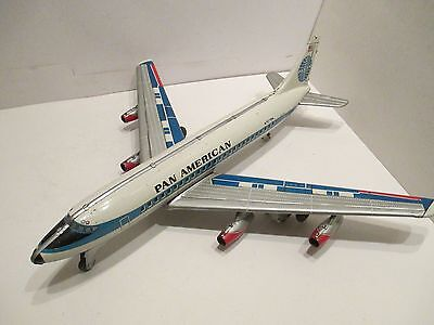 Pan Am Dc-8 Intercontinental Jet Liner Friction Powered Good Conditon Works Good