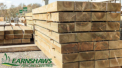 40 Bulk Pack Pressure Treated New Railway Sleepers 1.2 x 200 x 100 Delivery
