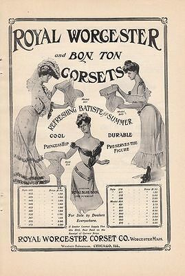 1903 Royal Worcester Corset Co Worcester MA Ad: Refreshing Batiste for Summer