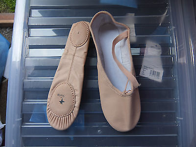 Pink leather starlite split sole ballet shoes - all sizes