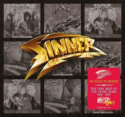 Sinner - No Place In Heaven-Very Best Of The Noise Years (1984-1987) 2 Cd New+