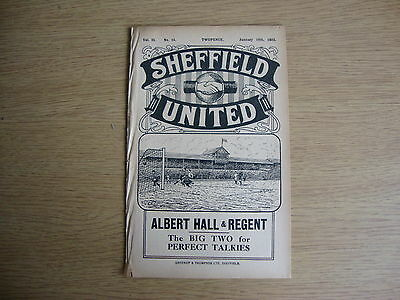 1931/2 Sheffield United v Derby County - League Division 1