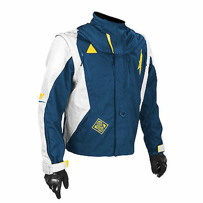 SHOT FLEXOR ADVANCE ENDURO JACKET BLUE YELLOW husky motocross mx trail bike coat