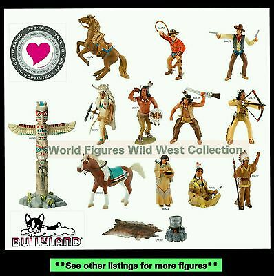 Bullyland Wild West Indian Family 6 pc Lot Chief Squaw Pony Warriors Papoose NWT