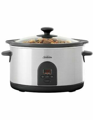 NEW Sunbeam Slow Cooker with Timer HP5590 Grey