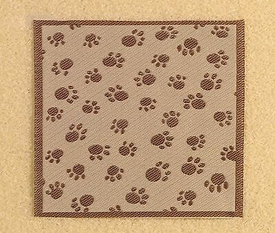 Dolls House Miniature 1/12th Scale Emporium Pet Blanket with Paws Pattern