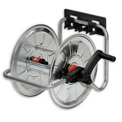 """Metal wall hose reel 50m 1/2 """", stationary and portable galvanized,"""