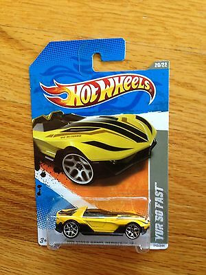 Case L 2011 i Hot Wheels YUR SO FAST #242∞ Yellow; y5 ∞ VIDEO GAME HEROES