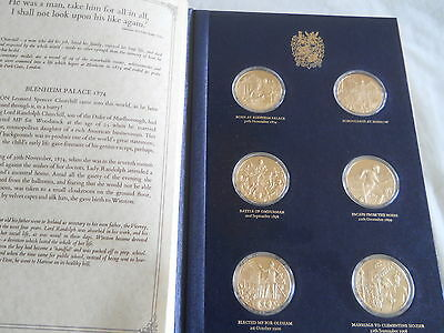 Winston Churchill Centenary 24 Gold on sterling Limited edition medal collection