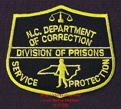 LMH Patch  NORTH CAROLINA  Obsolete DEPARTMENT CORRECTION Old Logo DOC Prisons