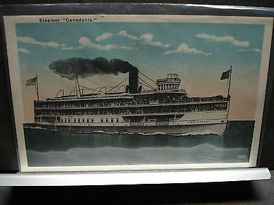 Steamer CANADANIA Naval Cover unused post card Steamship