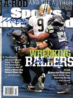 Michael Bennett & Cliff Avril Autographed Signed Sports Illustrated Mcs Holo
