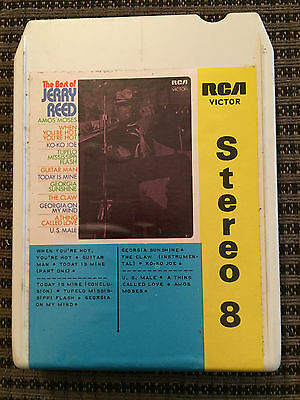 The Best of Jerry Reed - 8 Track Cartridge Tape - Amos Moses, Guitar Man