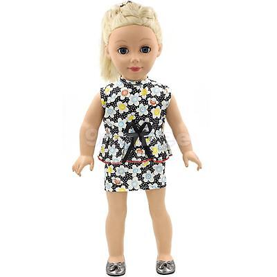 """Summer Party Clothes Floral Dress for 18"""" American Girl Our Generation Dolls"""