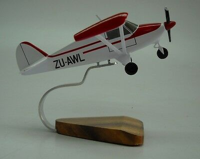 PA-22 Piper Tri-Pacer Civil Utility Aircraft Handcrafted Wood Model Regular New