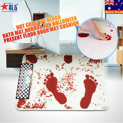 Hot Creative Blood Bath Mat Horror Fun Halloween Present Floor Door Mat Cushion