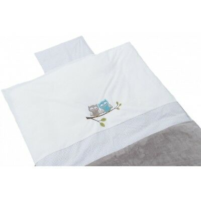 Be Be's Collection 272-74 Bed linen Motif Owl taupe 80x80cm