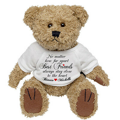 Personalised Teddy Bear Best Friend Sister Cousin Birthday Thank you  Present