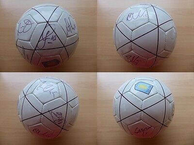 2009-10 Aston Villa Squad Signed Official Football (8031)