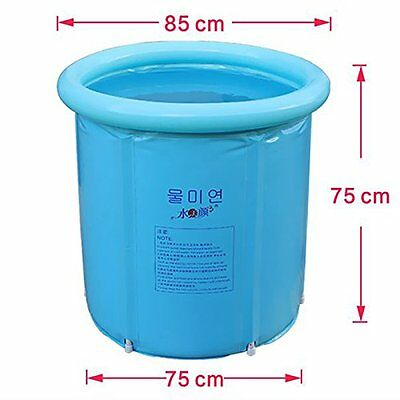 Folding Bath Tub Portable Plastic Spa Massages Indoor Outdoor Hot Water 3 Layers