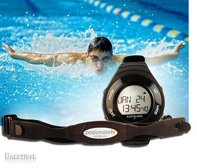 Swimovate Pool Mate PoolMate HR Heart Rate Sport Swimming Running Watch Swimmer