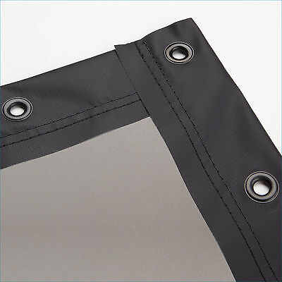 Carl's Rear Projection Film, 16:9, 6.75x12, Truss Style Hanging Frame Kit, Gray