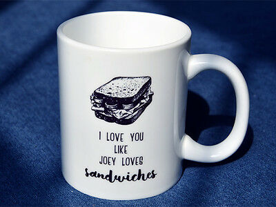 Friends TV Show Series Ceramics Coffee Mug Funny Joey Love Sandwiches Tea Cup