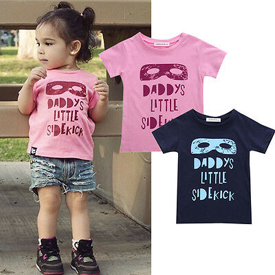 Batman Baby Boy Girls Cotton Mask T-shirt Tee Tops Toddler Clothes Age 2-7Y