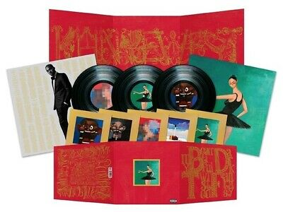 Kanye West My Beautiful Dark Twisted Fantasy vinyl 3 LP 2 x gatefold, poster NEW