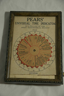 Rare Pears' Universal Time Indicator  C 1890
