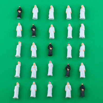 25pcs Mixed Middle East Arab People Figure Painted Train Model 1:50 Scale New