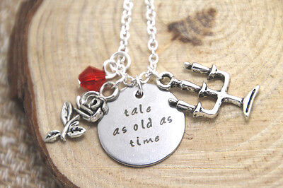 Tale As Old As Time Charms Pendant Necklace Belle Beauty And The Beast