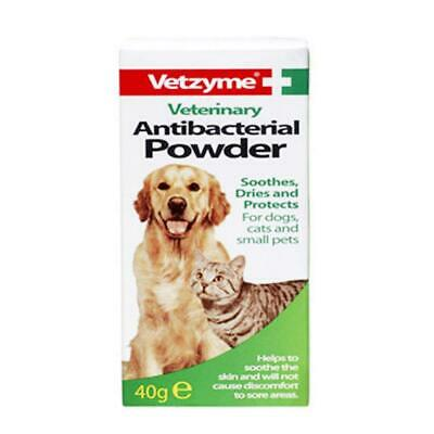 Vetzyme Veterinary Antibacterial Powder Cat, Dog Skin and Coat Care Itch Remedy