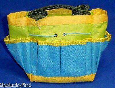 Little Helpers Kid's Gardening Tool Storage Carrying Bag 8 Compartments A111