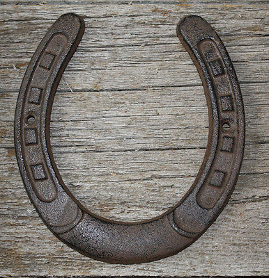 Cast Iron Lucky Horseshoe Rustic Ranch Western  Home Decor 5 1/2 x 6.5 in TEXAS • CAD $8.88